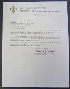 Carta del Arzobispo de Mobile