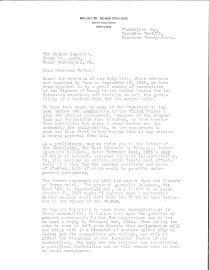 Carta de la Madre Carmelita Hartman a las Madres Superioras de la Misericordia en todo Estados Unidos (1)